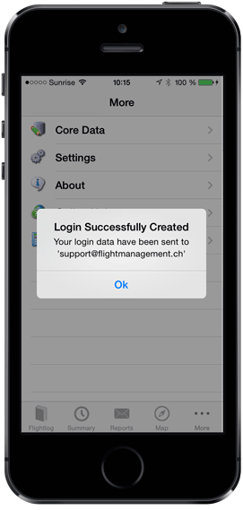 Login successfully created